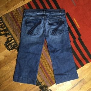 7 for all Mankind DOJO Crop Jeans Sz 28